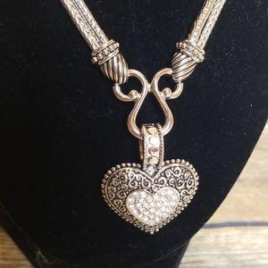 LIA SOPHIA DESIGNER INSPIRED HEART NECKLACE NWOT
